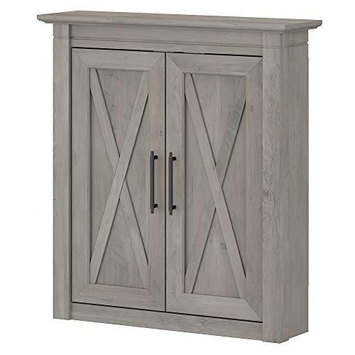 Bush Furniture Key West Bathroom Wall Cabinet with Doors, Driftwood Gray