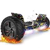 FUNDOT hoverboards,hoverboards all Terrain,Scooter autobilanciato 8.5',hoverboards Fuoristrada,hoverboards con Altoparlante Bluetooth, Luci a LED, Regalo per Bambini Adulti