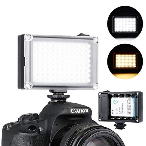 Rechargeble 96 LED Video Light,Ulanzi Pocket Mini on Camera Led Light with 2500mAh Battery and Magnet Filters for Sony Panasonic Canon Nikon DSLR Camcorder