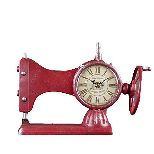 Yinglihua Retro tafelklok oude mode naaimachine klok stil niet tikt digitaal batterijbedrijf woonkamer decoratie tafel wekker