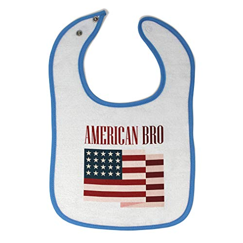 Toddler & Baby Bibs Burp Cloths American Bro 4Th of July Independence Brother Funny Flag New Cotton...