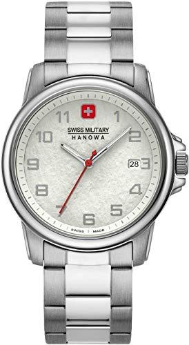 Swiss Military Hanowa Unisex Erwachsene Analog Quarz Uhr mit Edelstahl Armband 06-5231.7.04.001.10