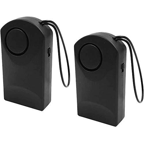 YuKeShop 2 unids puerta abierta alarma puerta manilla/perilla colgante alarma antirrobo para el hogar dormitorios hotel viajes