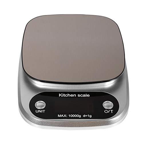 EVTSCAN - Báscula de cocina digital para alimentos, 1 pieza, 10 kg/g, LCD digital, cocina electrónica, cocina electrónica, cálculo de troquel, balanza de peso, para cocinar alimentos muertos,