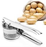 Mashed Potatoes Masher,Stainless Steel Potato Ricer Heavy Duty with Ergonomic Handles, Best Potato Ricer Masher for Cauliflower, Spaetzel And Boiled Eggs