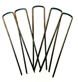 Shape Your Scape 100 Commercial Grade, 6 inch 11-Gauge, Steel Garden Landscape Staples Biodegradable Stakes, Sharp Angled Tip, Made in America. for Installing Sod, Weed Barrier Fabric, Soaker Hoses.