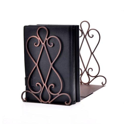 Artkingdome 1 Pair Luxury Kitchen Bookend Art Retro OrganizerBooks End Stand Desk Holder Racks...