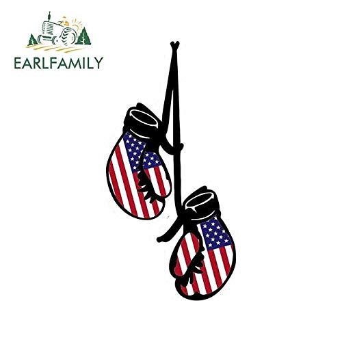 RSZHHL Sticker de Carro 13 cm x 11,1 cm para Guantes de Boxeo Bandera JDM EE. UU. Americano Unido Parachoques de Coche Pegatinas de Ventana de Vinilo Envoltura de Coche Pegatina DIY