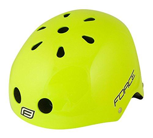 Force BMX Helm, Fahrradhelm, Skaterhelm, neongrün, L-XL (58-61 cm)