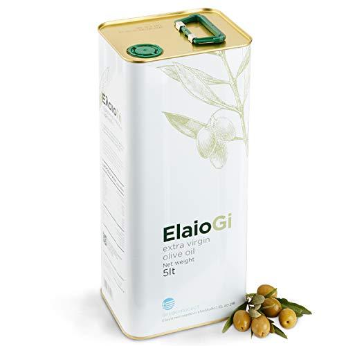 Griechisches Olivenöl ElaioGi 5l Kanister | Extra natives Olivenöl aus Griechenland | Kaltgepresst | Angebaut in Peloponnes | Einzigartiger Geschmack