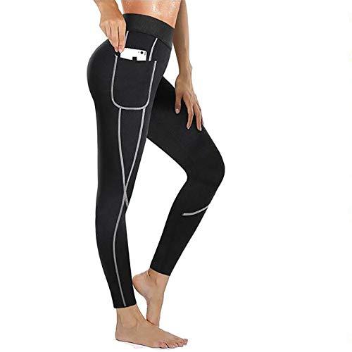GYYlucky Leggings Anticelulíticos Que Adelgazan Los Pantalones De La Sauna Hot Shapers Mujer Sport Vaina Piernas Que Adelgaza El Mono (Color : Black, Size : 5XL)