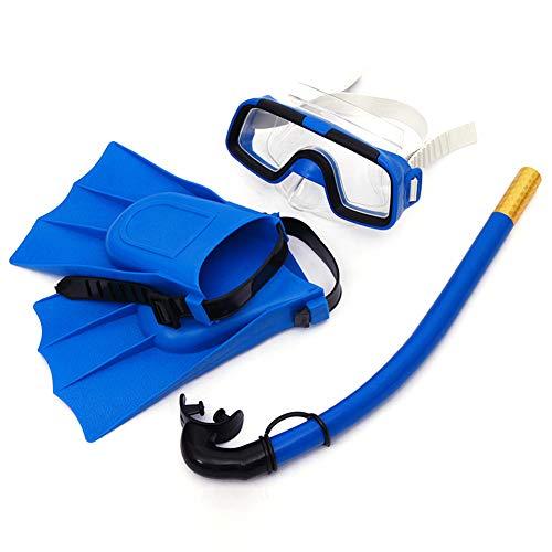 tellaLuna 3 unids/set niños traje de buceo anti niebla natación gafas respirar tubos de buceo aletas equipo de natación para