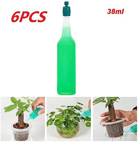 Fertilizante líquido hidropónico para Plantas Solución nutritiva Raíz plántulas, de Uso múltiple para Plantas de Interior,Vitamina Universal Que Crece para macetas Verdes sin Suelo (6 Botellas)