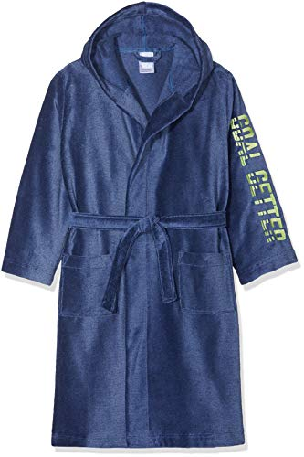Sanetta Jungen Bathrobe Bademantel, Blau (Ink Blue 50096), 152