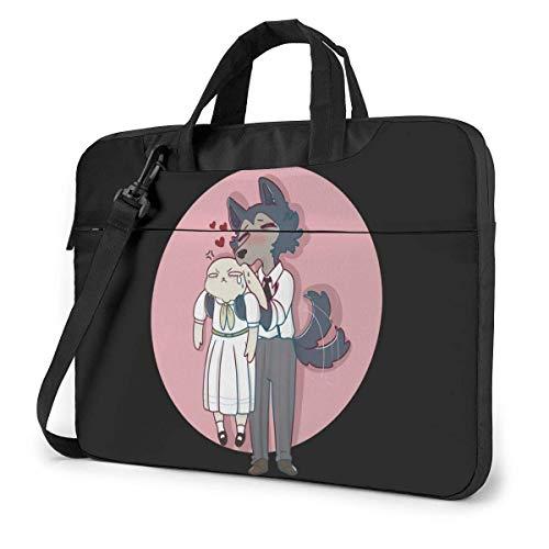 XCNGG Beastars Anime Laptop Hombro Messenger Bag Tablet Computadora Almacenamiento Mochila Bolso 15.6 Pulgadas