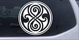 Rad Dezigns Doctor Who Time lord symbol Seal of Gallifrey Sci Fi Car or Truck Window Laptop Decal Sticker - White 6in X 6.0in