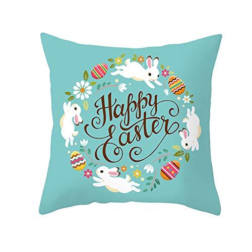 Watopia Funda de cojín de Pascua para sofá, decoración del hogar, amigos, festival, fiesta