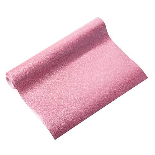 NBEADS 1 Rolle Glitzer Wärmeübertragung Vinyl-Papier Vinyl Transferfolie für DIY T-Shirt, Kleidungsdekoration, Flamingo, 30,5 cm × 100 cm