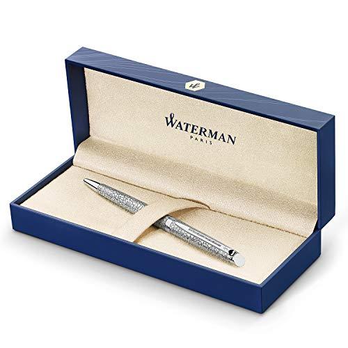 Waterman Hémisphère Deluxe stylo bille luxe | vernis effet craquelé | pointe moyenne | encre bleue | coffret cadeau