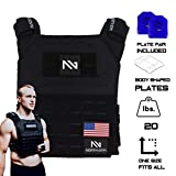 Northgym Adjustable Fitted 20lbs Weighted Vest for Men and Women/Perfect for Endurance & Strength...