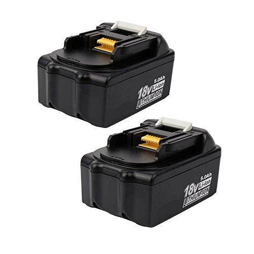 Coolsoul - Batería de repuesto para Makita BL1850, BL1850B, BL1860, BL1860B, BL1840, BL1830, BL1820, BL1845, BL1815, BL1835, 194205-3 y LXT-40 (2 unidades) 0 18 V. Batería para Makita.