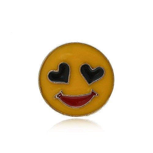Null Karat Anstecker Pin Verliebter Smiley Emaile Anstecknadel schmuckrausch