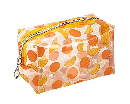 JunNeng - Neceser para cosméticos de frutas, bolsa transparente para maquillaje para mujeres y niñas, organizador de artículos de aseo,bolsa de viaje, kit de brochas de maquillaje, estuche para lápice