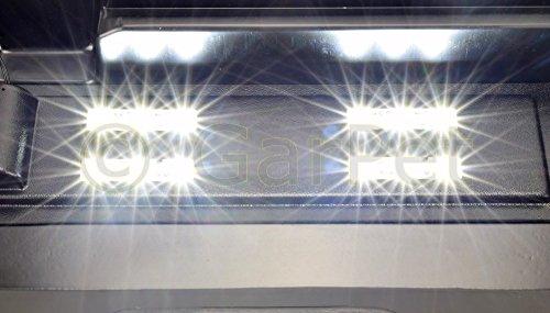 50×30 cm Aquarium Terrarium Abdeckung LED 4,32 W Beleuchtung schwarz 50 - 2