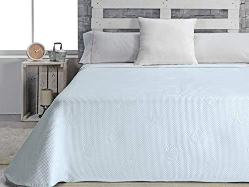 Casa tessuto trapunta per letto da 150, Poliestere, Blu, Queen, 42x 34x 9cm