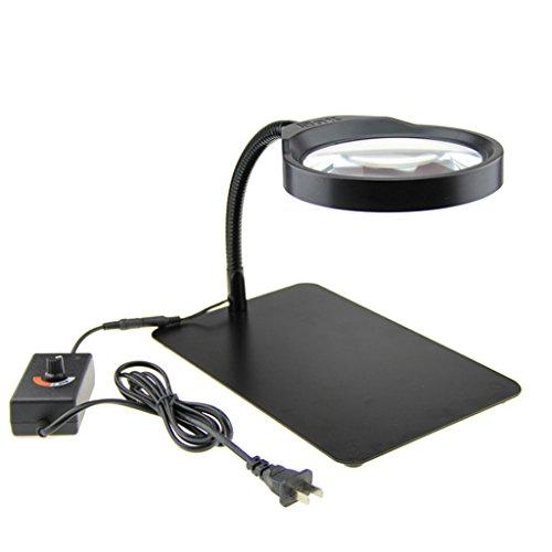 Vergrößerungsglas 8 mal die Desktop Lupe Leselampe LED Lesebrille Lupe ältere High-Definition-Spiegel