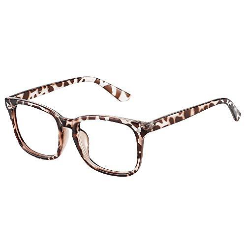 Cyxus Blue Light Filter Computer Glasses for Women Men Blocking UV Headache [Anti Eye Eyestrain] Transparent Lens Gaming Glasses, Unisex(8082T03,Leopard Frame)
