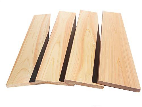 国産桧 板材無節 幅12cm×厚1.5cm×長さ30cm 4枚セット (30cm)