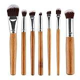 Manejar el Pincel de Maquillaje Set de bambú de Pelo con Bolsa Movoo