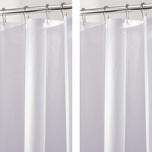 mDesign Set da 2 Tende doccia PEVA senza PVC – Tenda vasca da bagno resistente, senza cloro e inodore – Tenda da doccia 183 x 183 cm – Trasparente
