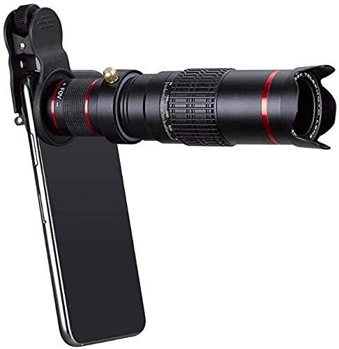 PAKUES-QO Lente del Teléfono Móvil De Los Monoculares, Gira Externa Universal del Concierto del Telescopio del Teleobjetivo del Teléfono Móvil 22X