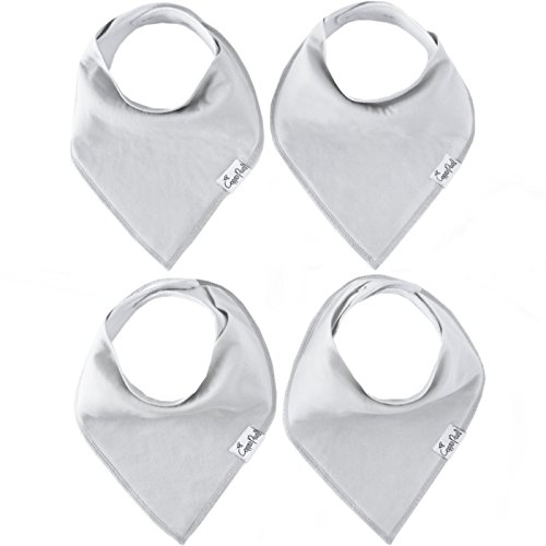 Copper Pearl Bébé Bandana Drool Bibs Pour Bave Et Dentition 4 Pack Gift Set « Gray Basics »