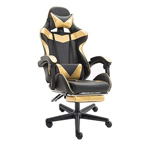 Feixunfan Game Chair PU lederen bureaustoel rugleuning en zitkussen PC-spellen hoge rug bureaustoel racen hoge rug computerstoel