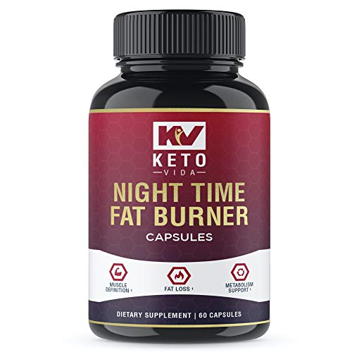 Keto Vida Night Time Fat Burners for Men and Women - Best Weight Loss Pills and Appetite Suppressant; 30 Servings