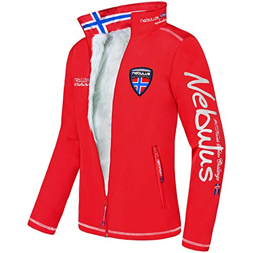 Nebulus Styler Veste Polaire Homme, Rouge, FR (Taille Fabricant : XXL)