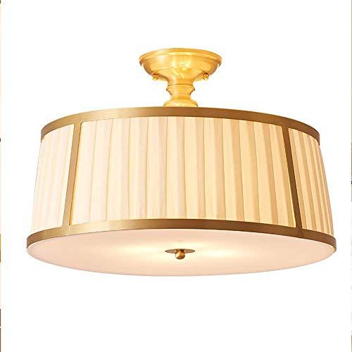 Z-GJM plafondlamp plafondlamp plafondlamp plafondlamp plafondlamp plafondlamp rond minimalistische stoffen trommel acryl lampenkap plafondinbouwlamp messing voor woonkamer eetkamer keuken E27 (zonder lamp)
