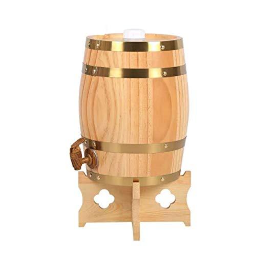 Barriles de Madera, Barriles De Roble Barriles De Whisky, Adecuado para Fabricación o almacenar Brandy Vino Blanco, Barriles Puede ser Metido en el Bar Boda Escena. (5L)