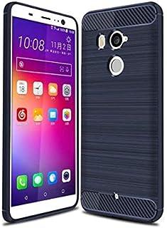 كفر حماية كاربون فايبر مخطط مرن لون أزرق داكن لجوال إتش تي سي يو11 بلس  HTC U11 PLUS