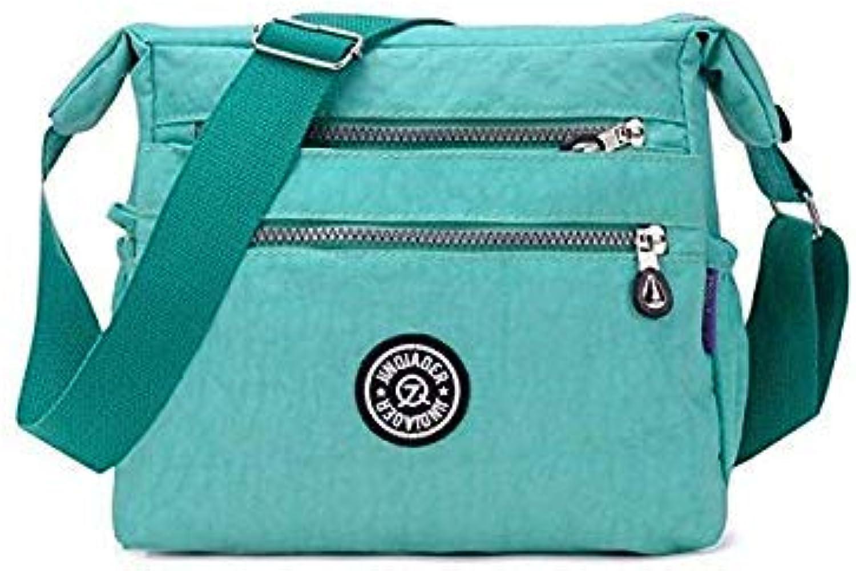 Casual Women Messenger Bag Handbags Bolsa Feminina Waterproof Nylon Shoulder Bag Book satchels Designer Tote Crossbody Bags Emerald Green