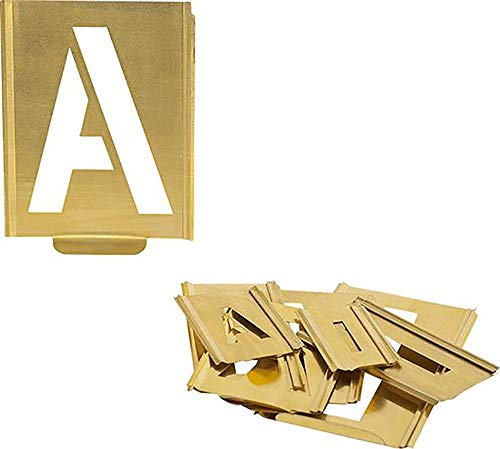 KUKKO Profi-Signierschablonen-Satz mit Steckmechanismus Buchstaben (40 mm)