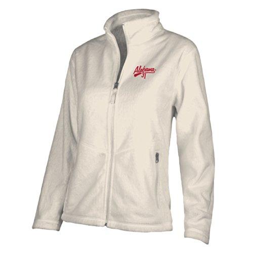 NCAA Alabama Crimson Tide W Luxe Jacket, Medium, Gardenia