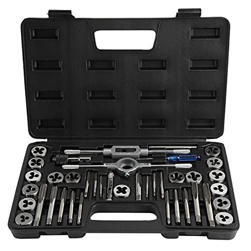 Macho de roscar, juego de herramientas universales Juego de tuercas para llaves de machos para vehículos y maquinaria Juego de machos y matrices duraderos para vehículos