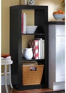 Versatile Better Homes and Gardens 3-Cube Organizer (Black, 1)