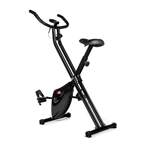 XS Sports B210 ​Folding Magnetic Exercise Bike - Indoor Fitness Equipment - Stationary Upright Gym Cycle ​and​ Foldable Trainer ​for ​Home Workout ​and​ Cardio