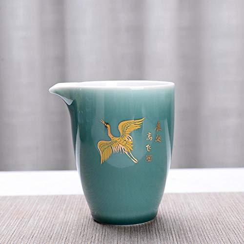 Ksnrang Suministros de té Cerámica Grande Copa Feria Creativa Té de té Accesorios Accesorios Té Azul Té Té Haciendo Logotipo Personalizado-Alas Volando gaofei Taza (Frijol)