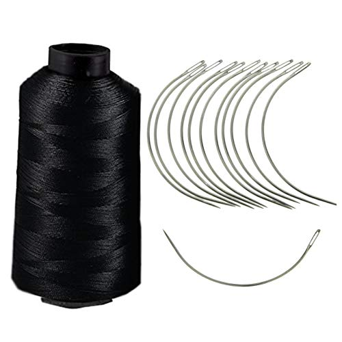 Crispy Collection 12 combo Deal Weaving Needle Jumbo Cane (NEEDLE AND 60 METER THREAD (BLACK))